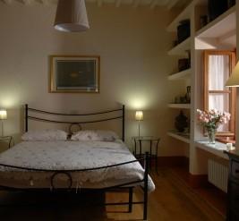 Una camera dell'appartamento Il Querciolo
